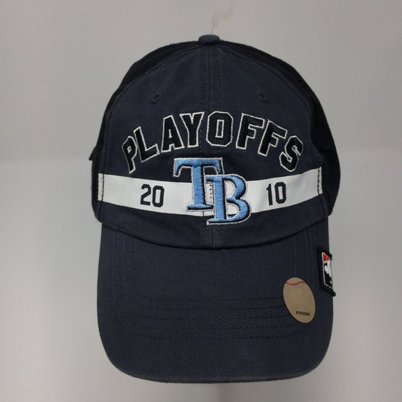 144fa7c20e66a3 47 Brand Accessories | Tampa Bay Rays 2010 Playoffs Strapback Hat ...